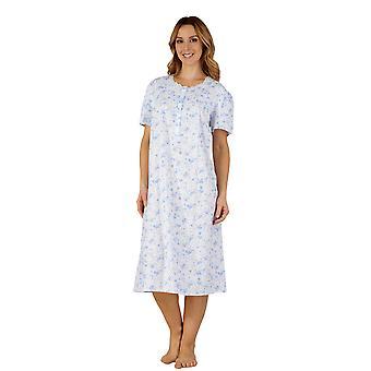 Slenderella ND3206 Frauen Baumwolle gewebt Nacht Kleid Loungewear Nachthemd