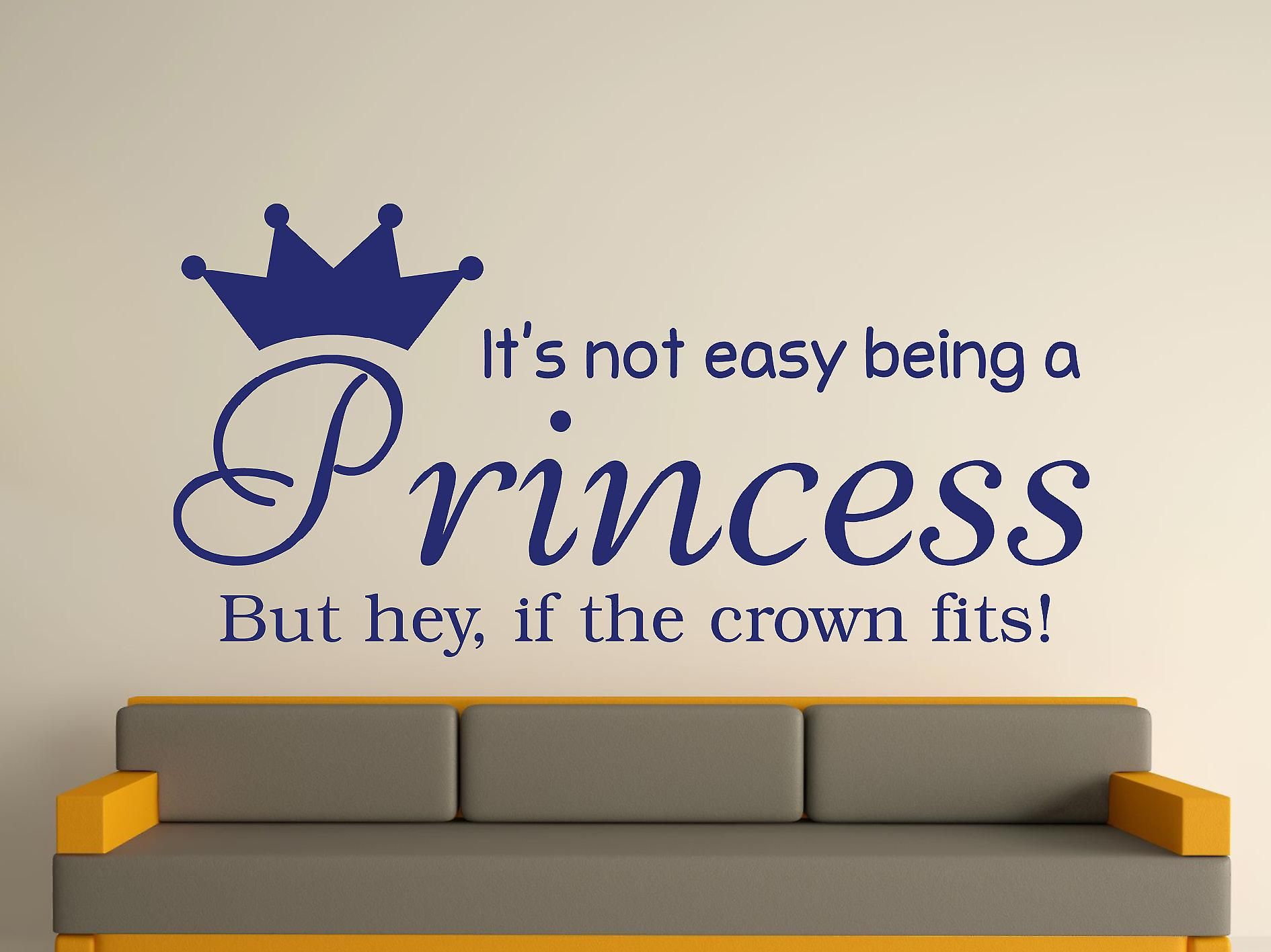 Being A Princess Wall Art Sticker - Ultra Blue
