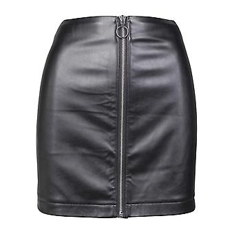 Urban Classics Damen Rock Faux Leather Zip