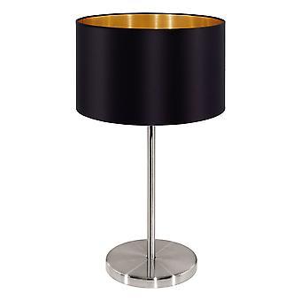 Eglo - nichel Maserlo 1 lampada da tavolo lampada satinato nero EG31627