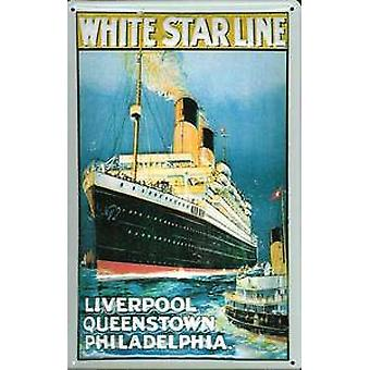 White Star Line Liverpool... embossed steel sign