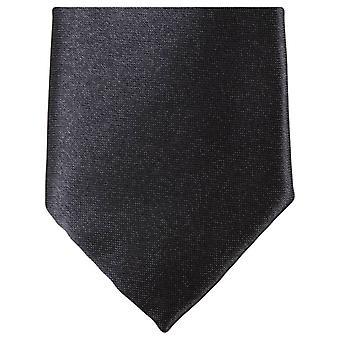 Slim krawat poliestrowy Knightsbridge Neckwear - czarny
