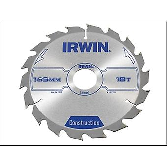 IRWIN scie circulaire lame 165 x 30 mm x 18 t ATB