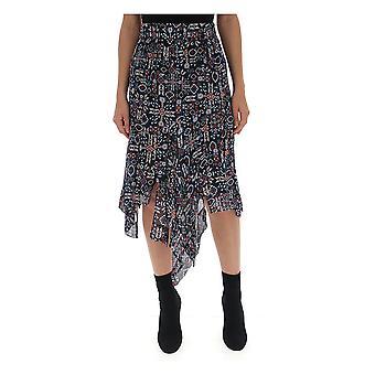 Isabel Marant negro falda viscosa