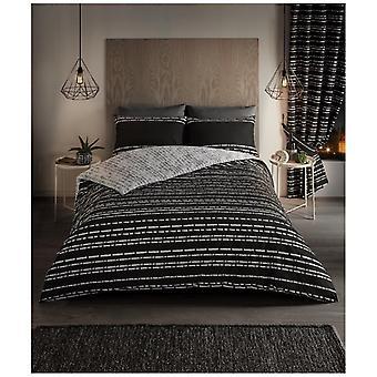 Seb Stripes Modern Duvet Quilt Cover Reversible Bedding Set Pillow Case