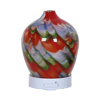 Aroma-Diffusor Kunstglas LED, rot Swirl