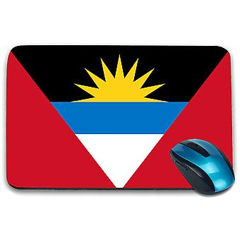 i-Tronixs - Antigua and Barbuda Flag Printed Design Non-Slip Rectangular Mouse Mat for Office / Home / Gaming - 0006
