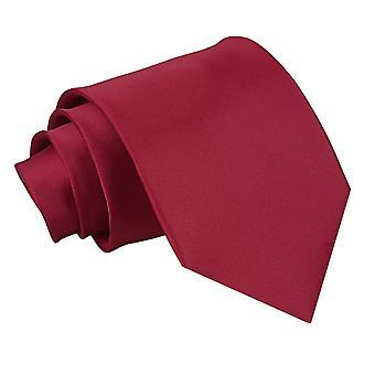 Burgund-Plain Satin Extra lange Krawatte