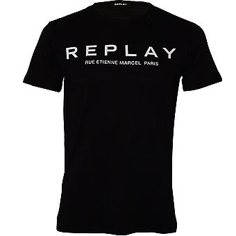 Replay Couture Logo Crew-Neck T-Shirt, Black