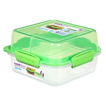 Sistema Square Lunch Stack Square 1.24L, Lime Green