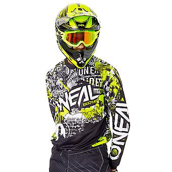 Oneal Black-Neon Yellow 2019 Element Attack MX Jersey