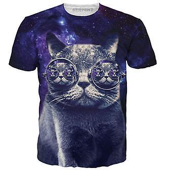 Allthemen Cat Imprimé Slim Fit Casual Shirt