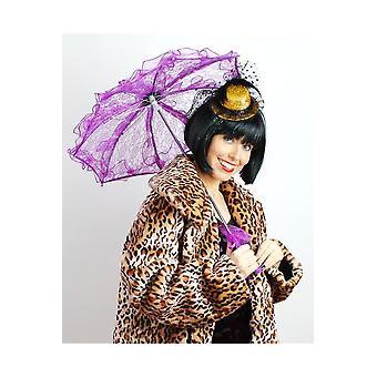 Paraplu's en fans paarse kant paraplu