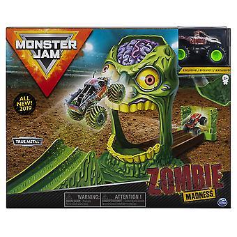 Monster Jam 1:64 Basic Stunt Playsets ZOMBIE ZONE & Zombie Monster Truck