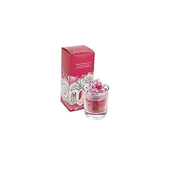 Bomb Cosmetics Piped Glass Candle - Redcurrant & Cassis