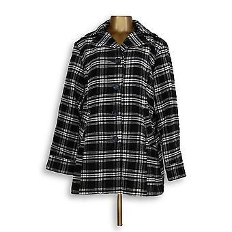 Joan Rivers Classics Collection Women's Btn Frt Swing Coat Black A343505