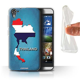 STUFF4 Gel/TPU Case/Cover for HTC Desire 826/Thailand/Thai/Flag Nations