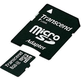 adaptador de microSDHC card de 8 GB Transcend clase 4 incluye SD