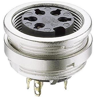 DIN connector Socket, vertical vertical Number of pins: 5 Silver Lumberg KFV 50 1 pc(s)
