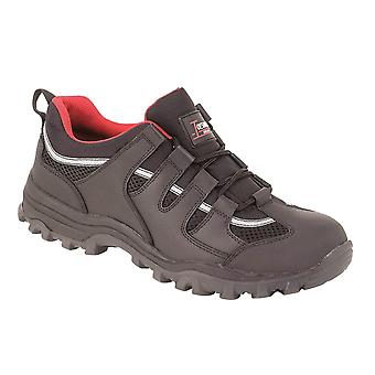 Toesavers Black Leather Safety Trainer 3420 Steel Midsole