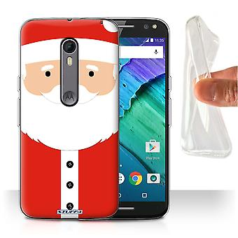 STUFF4 Gel/TPU Case/Cover for Motorola Moto X Style/Santa Claus/Christmas Character