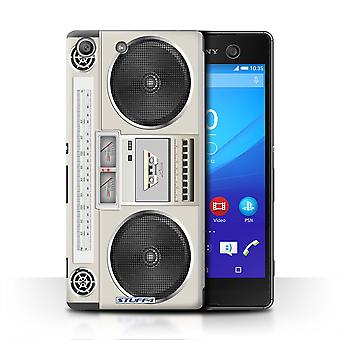 STUFF4 Case/Cover for Sony Xperia M5/Boombox/Retro Tech