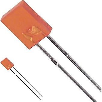 LED wired Amber Rectangular 2 x 5 mm 5 mcd