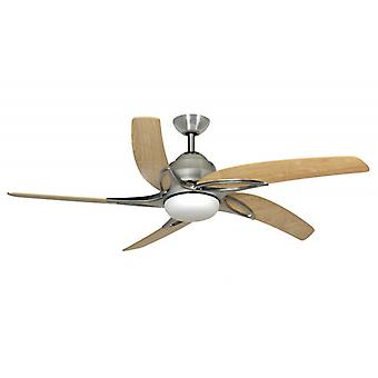 Ceiling fan Viper Stainless Steel with lighting 137 cm / 54""