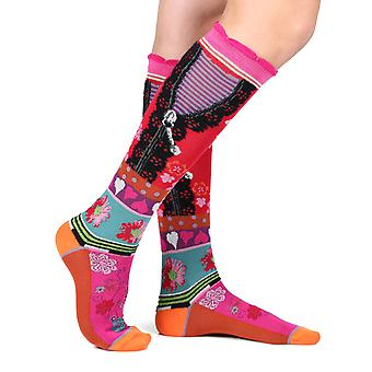 Reveal women's crazy cotton knee-high socks | French design by Dub & Drino