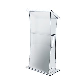 Clear Acrylic Lectern with Frosted Front Panel