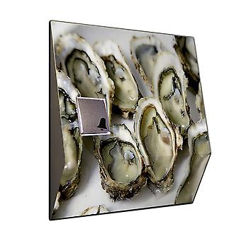 Ring stainless steel Oyster motif - chime from V2A stainless steel