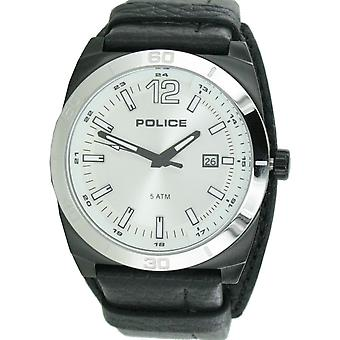 Police mens watch wristwatch leather analog PL. 14107JSBS/04