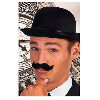 Black Gentleman Stick On Moustache Fancy Dress Accessory