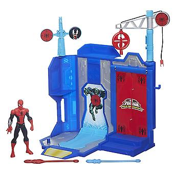 Marvel Ultimate Spiderman Web Warriors Trickshot Showdown Playset