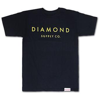 Diamond Supply Co Stein geschnitten T-shirt Navy