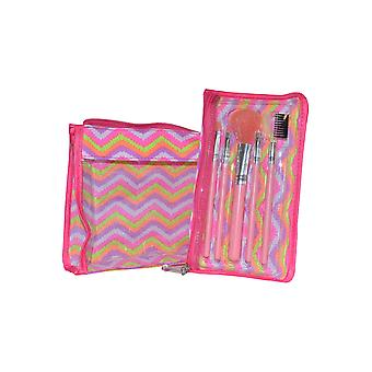 Royal Cosmetics 5 piece Cosmetics Brush and Bag Set