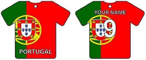 Personalised Portugal Flag Jersey Car Air Freshener