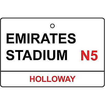 Arsenal / Emirates Stadium Street Sign Car Air Freshener