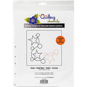 Quilting Creations Printed Tear Away Quilting Paper 4/Pkg-Rock 'n Roll Starz - Petite-Corner UTA1025