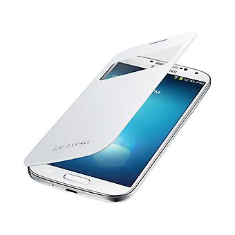 OEM Samsung S-View Flip Cover for Samsung Galaxy S4 (White)