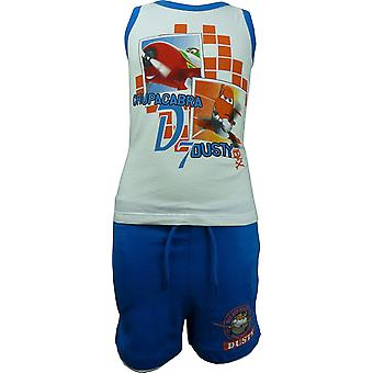 Boys Disney Pixar Planes Dusty Sleeveless T-ShirtVest Top & Shorts Set OE1061