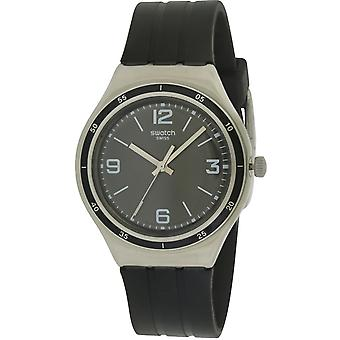Staal glanzend zwarte Rubber Mens Watch YGS132