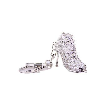 TRIXES High Heel Fashion Shoe Silver Keyring Pendant Chain