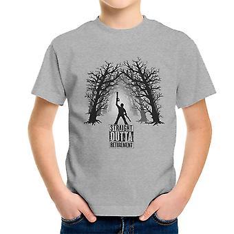 The Comeback Ash Vs Evil Dead Straight Outta Retirement Kid's T-Shirt