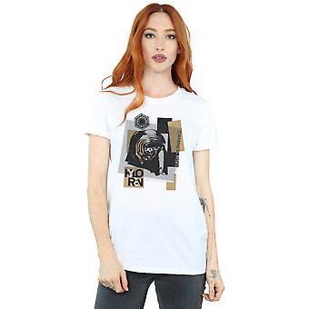 Le dernier Jedi Kylo Ren Patchwork Boyfriend Star Wars féminin Fit T-Shirt