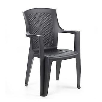 AFT Chair Rattan Resin High Anthracite