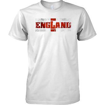 Bandiera Inghilterra Grunge paese nome effetto - St George - Kids T Shirt
