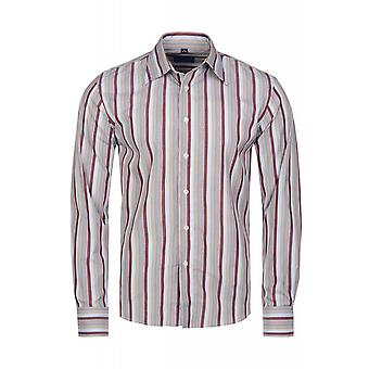 DERBY OF SWEDEN shirt men's long sleeve shirt striped red