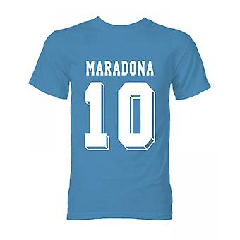 Diego Maradona Hero T-Shirt (Sky Blue)