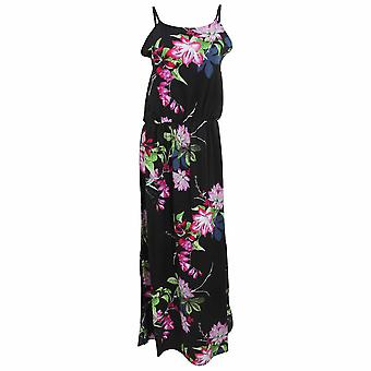 Womens Ladies Floral Print Strappy Maxi Dress